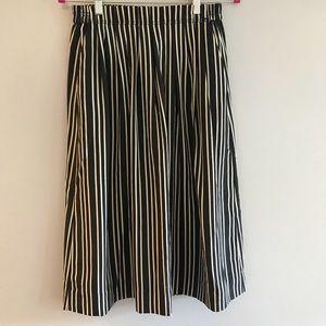 NWT J. Crew Striped Midi Skirt